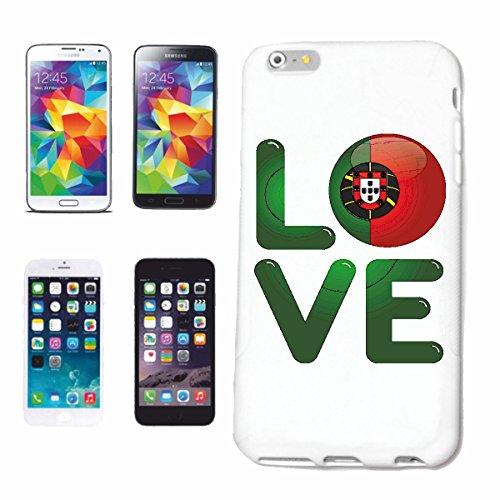 """cas de téléphone iPhone 7 """"J'AIME PORTUGAL J'AIME PORTUGAL PORTUGAIS Portugais FOOTBALL HOLIDAY DESTINATION VACANCES"""" Hard Case Cover Téléphone Covers Smart Cover pour Apple iPhone en blanc"""