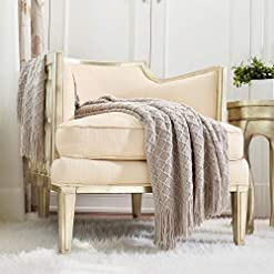 Bedroom CREVENT Farmhouse Knit Throw Blanket for Couch Sofa Chair Bed Home Decoration, Soft Warm Cozy Light Weight for Spring… farmhouse blankets and throws