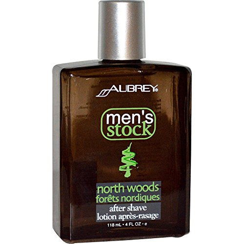 Aubrey Organics, Men's Stock, North Woods After Shave, Classic Pine, 4 fl oz (118 ml) - 3PC