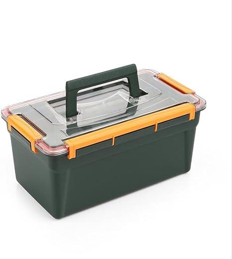 Doble capa caja de aparejos de pesca caja de herramientas grande ...