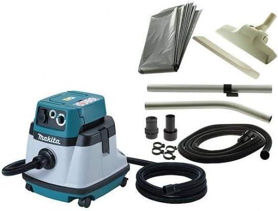 Makita VC2510LX1 - Aspiradora (2600 W, Aspiradora cilíndrica, Seca y húmeda, Bolsa para el polvo, 25 L, 73 dB): Amazon.es: Hogar
