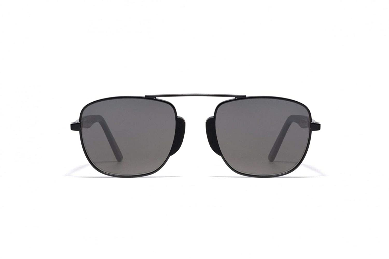 bd7d93f2cf077 L.G.R Sunglasses NEGUS Black Matt Metal alloy frame 100% UV handmade in  italy