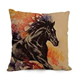 18 X 18 Inches / 45 By 45 Cm Horse Pillow Cases Double Sides Is Fit For Him Boys Kids Boys Adults Festival Teens Boys
