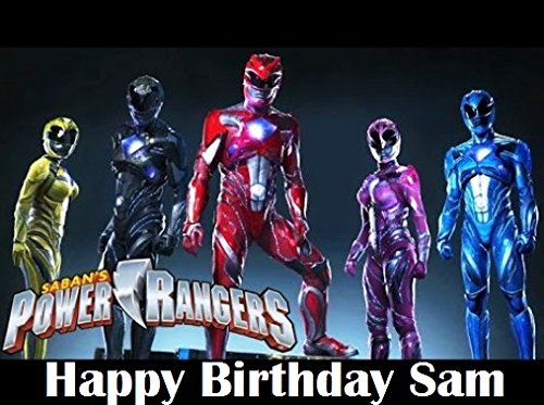 Power Rangers Cake Edible 1/2 Sheet Image Personalized Topper Birthday Party Favor (Power Rangers Birthday Cake)