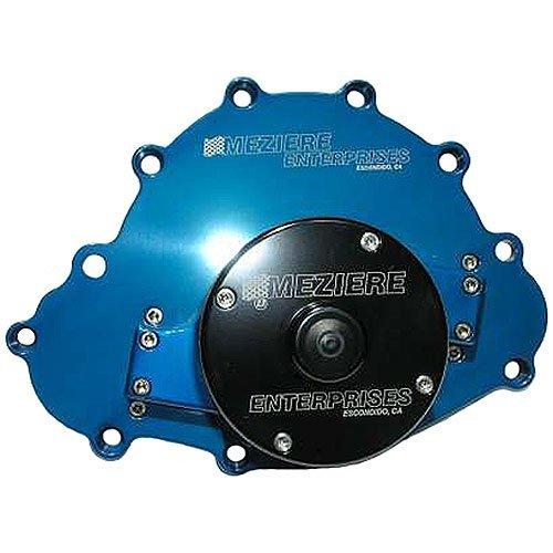 Meziere WP103B Blue Billet Electric Water Pump for Pontiac