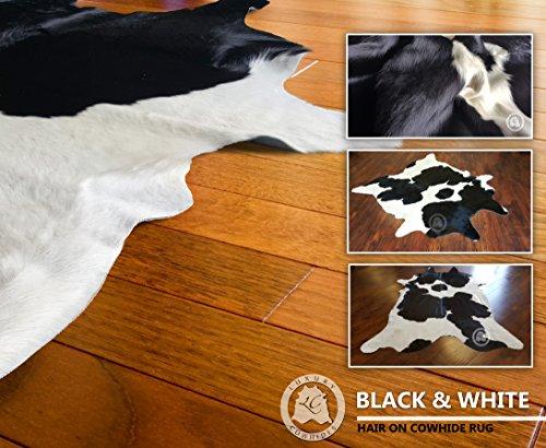� Blanco Y X Vaca Sol Cm Del 210 Piel Pieles De 180 Premium calidad Negro Alfombra qRxFXvwpW