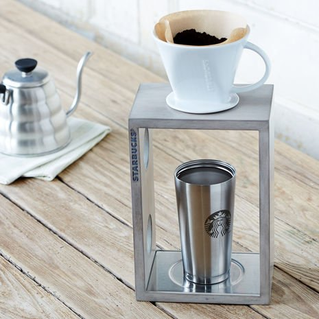 Starbucks By the Cup Pour-Over Coffee Brewing System (Grey Whitewash)