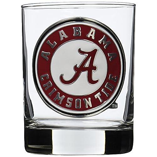 Superb NCAA Alabama Crimson Tide Two Piece Rocks Glass Set