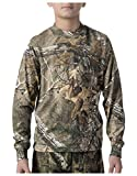 Walls 56412AX9 Youth Boys Long Sleeved Camo T-Shirt Shirt
