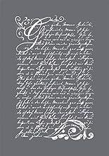 Rayher 45067000 Vintage Poesía, Surtido, DIN A5, 1 Plantilla + rasqueta en Bolsa