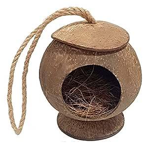 Xilinshop-Jaulas para pájaros La cáscara del Coco Natural ...