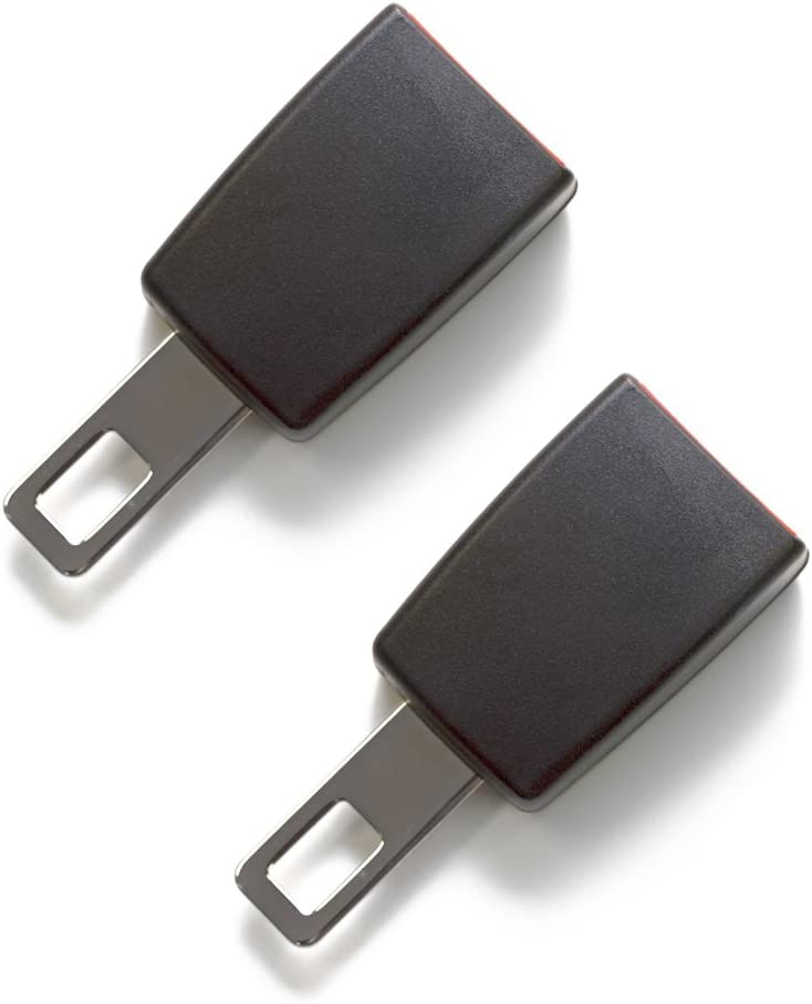 """2 x Rigid 3"""" Seat Belt Extender - E-Mark Safe Certified - Buckle Up & Drive Safely - Not Universal (Size: Type B with 1"""" Wide Tongue)"""