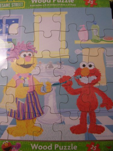 Sesame Street Wooden Puzzle Brushing