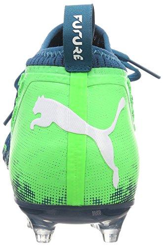 Puma Herre Fremtiden 18,2 Netfit Fg / Ag Fodboldstøvler Blau (dyb Lagune-puma Hvid-grøn Gekko 03)