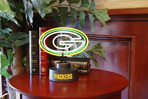 The Memory Company Green Bay Packers Neon Logo Desk Table
