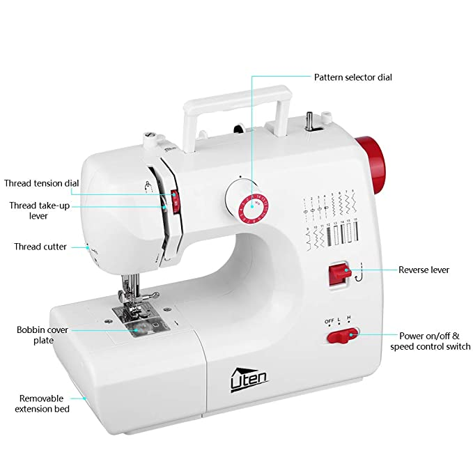 Amazon.com: Kranich Sewing Machine 2 Speed 16 Stitches Double Thread Needle Portable Sewing Machine 24W: Home & Kitchen