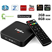 Henscoqi T95M TV Box Amlogic S905X Quad Core 2/8G HD 1080P 100M LAN Wifi Smart Set Top Box