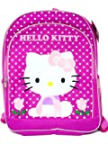 """Hello Kitty Pink Tulips Large Backpack 16"""" New"""