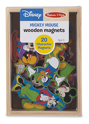 Melissa & Doug Disney Mickey Mouse Wooden Character Magnets (20 (Disney Magnets)