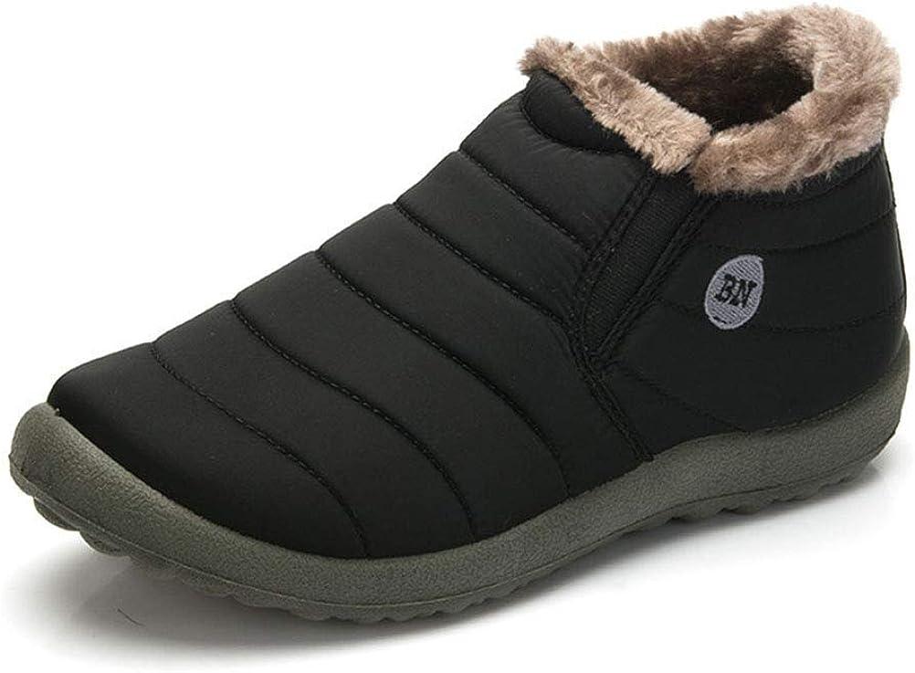 TALLA 42 EU. uirend Botas de Nieve Hombre - Calentar Tobillo Pelaje Revestimiento Impermeable Espesamiento Plano Al Aire Libre Casual para Caminar Zapatos Talla Acogedor