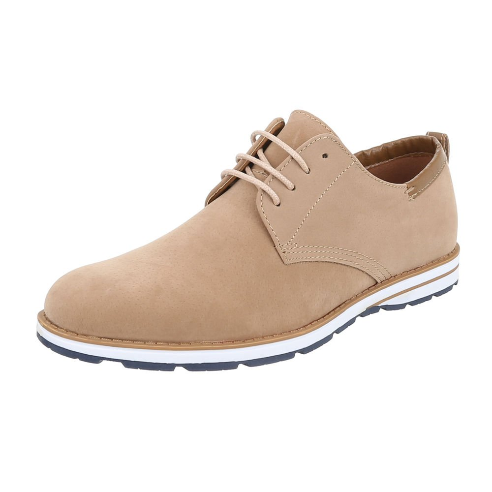 TALLA 43 EU. Ital-Design - Zapatos Planos con Cordones Hombre