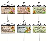 Evergreen Enterprises EG845224 Wishgivers Simple Blessings Garden Stake, 6 Piece