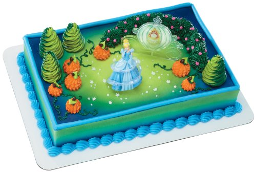DecoPac Disney Princess Cinderella Magic Decoset - Cinderella Cake Decorations