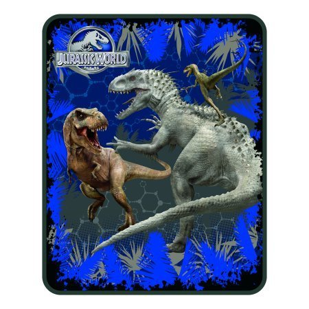 Jurassic World 'Rumble in The Jungle' 40'' x 50'' Kids Silk Touch Throw (1)