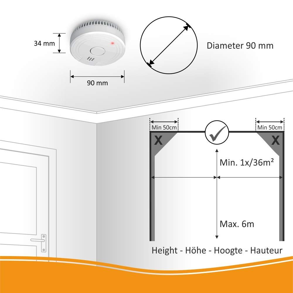ELRO FS1805 Detectores de Humo Blanco 2 Stück Set de 2 Piezas: Amazon.es: Bricolaje y herramientas