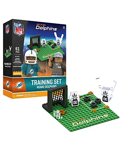 Oyo Sportstoys NFL Miami Dolphins Sports Fan Bobble Head Toy Figures, Teal/Orange, One Size - Miami Dolphins Training Camp