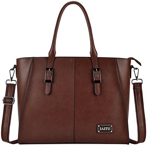 IAITU Laptop Bag, 15.6 Inch Laptop Briefcase Elegant Wing Tote Bag for Women/College Work School (Coffee) by IAITU