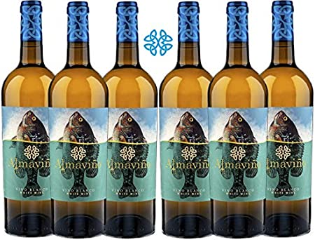 ALMAVIÑO Vino Blanco - caja de vino – Vino bueno para regalo - Vino gallego de autor - 6 botellas x 75cl – Alcohol 11% Vol. – Vino de la dieta Atlántica