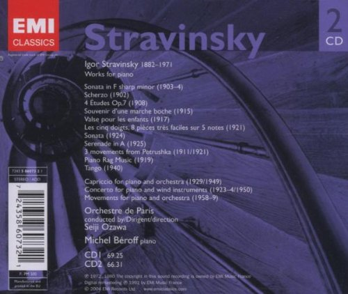 Stravinsky: Works for Piano by EMI Classics