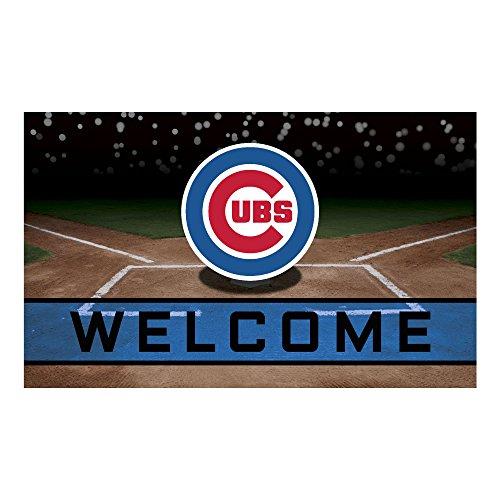 FANMATS 21913 Team Color Crumb Rubber Chicago Cubs Door Mat