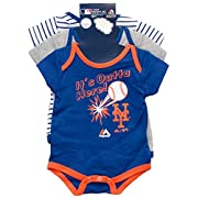New York Mets Homerun Newborn 3-Piece Onesie Set (6-9 Months)