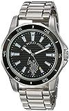 U.S. Polo Assn. Men's Analog-Quartz Watch with Alloy Strap, Silver, 21.5 (Model: USC80473)