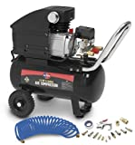 All Power America APC4016-A 3.5 Horsepower 6 Gallon 115 PSI Air Compressor With 15 Accessories