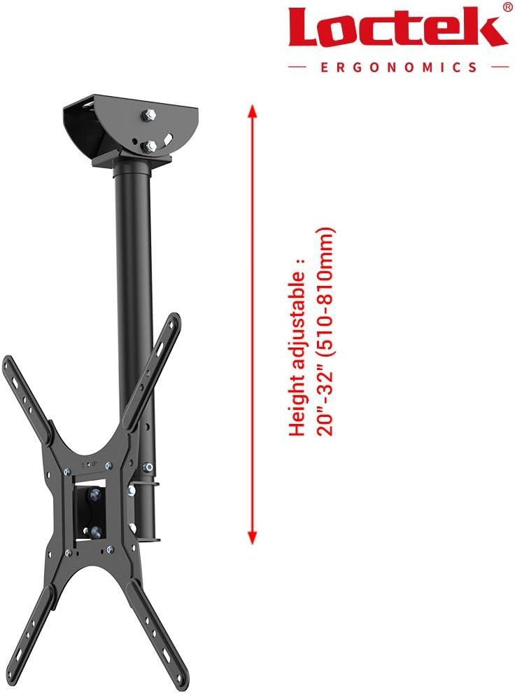 Loctek Ceiling TV Mount Adjustable Bracket For TV Fits 26 to 55 inch TV up to 66 lbs, Max VESA 400x400mm