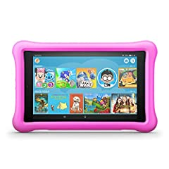 """All-New Fire HD 8 Kids Edition Tablet, 8"""" HD Display, 32 GB, Pink Kid-Proof Case. Powerful, fullfeatured Fire HD 8 tablet - with 1 year of Amazon FreeTime Unlimited and a Kid-Proof Case - for a savings of up to $144, versus items purchased se..."""
