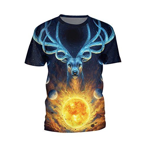 SEVENWELL Unisex Stylish Printing Shirts Ugly Funny Hip Hop Short Sleeve 0-Neck Tee Tops L (Hip Hop Costume Images)