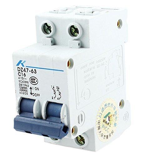 DealMux AC 415V 16A 2極過負荷保護MCBミニサーキットブレーカ B06XTZNPVN