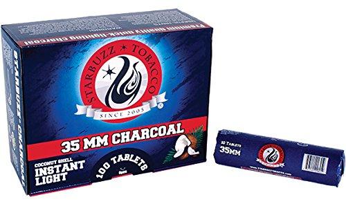 Starbuzz 35mm Quick Light Charcoal 100 Tablets by Kingopfthehookah