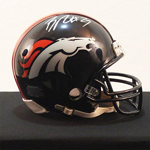 Bradley Roby Signed Denver Broncos Mini Helmet