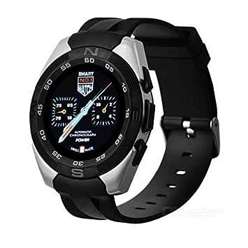 Reloj inteligente reloj Sport para mujer para hombre negro con cámara, monitor de ritmo cardiaco