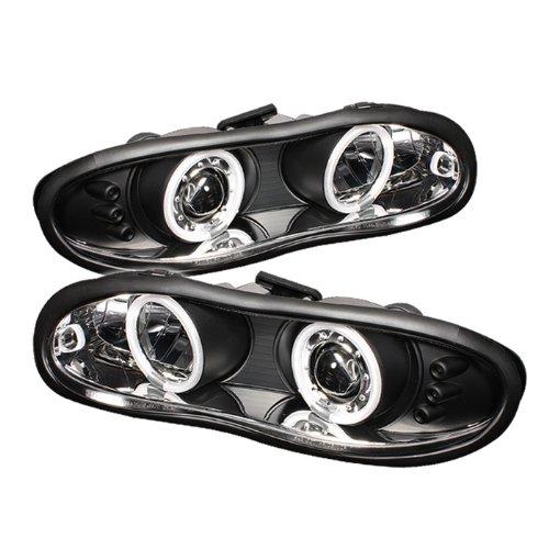 Chevy Camaro Headlight Headlamp (Spyder Auto Chevy Camaro Black CCFL LED Projector Headlight)