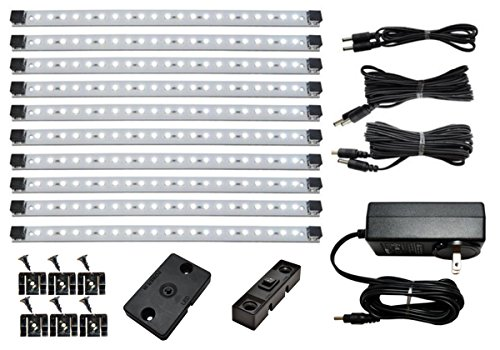 Pa Profile System 1 - Pro Series Super Deluxe 21 LED Cool White Kit with 4-Position Dimmer and super cable pack - Inspired LED