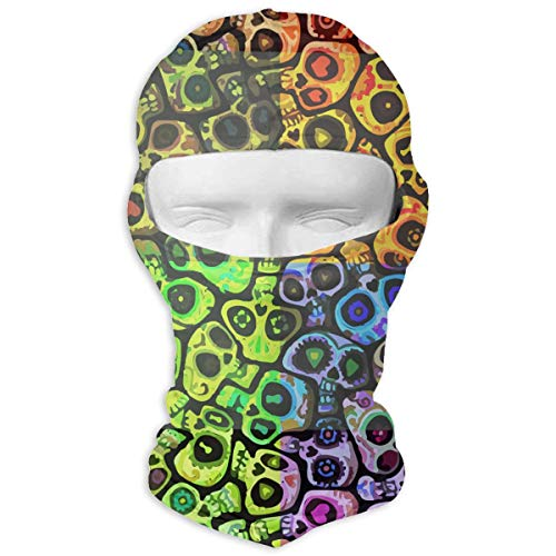 Sugar Skull Mexico Tradition Balaclava Full Face Mask Neck Warmer For Halloween Motorcycle Bike Outdoor Hiking Snowmobile ()