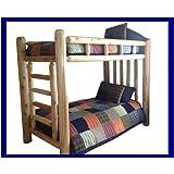 Original Queen Rustic Cedar Log Bunk Bed