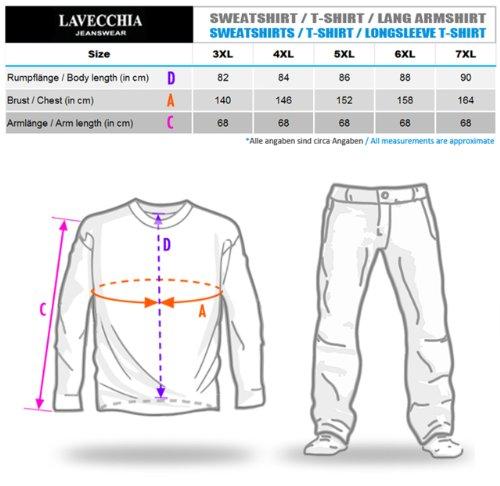 Klassisches Herren Poloshirt in Übergröße kurzarm von Lavecchia aus reiner Baumwolle in hellblau von 3XL bis 7XL