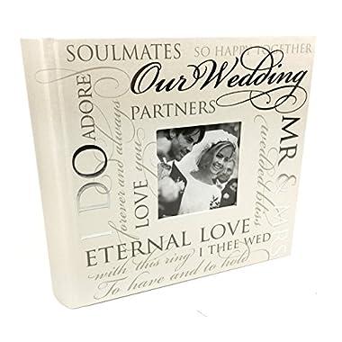 ukgiftstoreonline Large Wedding Photo Album 80 5X7  With Sentimental Verse Design Gift